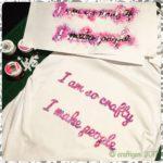 "Maternity t-shirt with the caption ""I am so crafty I make people"""